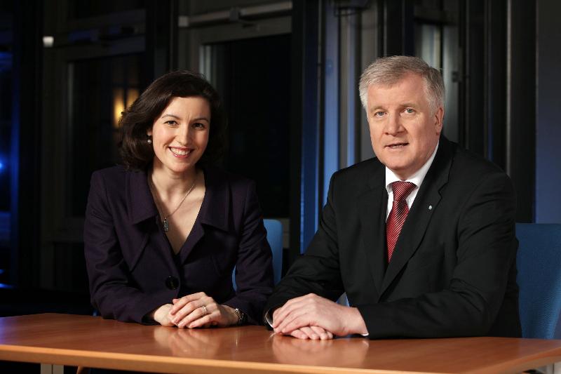Dorothee Bär mit Ministerpräsident Horst Seehofer