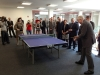 Landkreisbesuche Haßberge-Elastomer: Tischtennis Bär gegen Seehofer